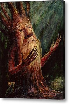 Choose your favorite fantasy paintings from millions of available designs. All fantasy paintings ship within 48 hours and include a money-back guarantee. Fantasy Paintings, Fantasy Art, Fantasy Trees, Fantasy Posters, Tree People, Magical Tree, Tree Faces, Lighted Canvas, Believe In Magic