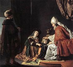 hannah-giving-her-son-samuel-to-the-priest-eli.Jan Victors (1619 – 1676, Dutch)
