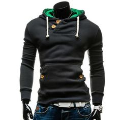 Fashion Man Sweatshirts Spring Autumn Hooded Hoodie Sweatshirts Front Pocket Drawstring Men Pullover Tops H9