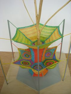 """""""Durian Catcher/Play Net"""" (2009) Model for a playspace around one of the last native durian trees in Singapore; it lets children play under it while protected from the spiked fruit. Photo © Charles MacAdam --"""