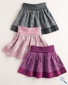 Classy Lace accented Garnet Hill Skirts. So cute!