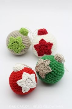 Christmas Baubles Amigurumi Pattern