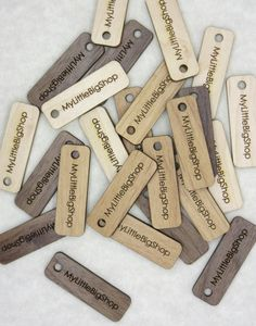 50 Product Tags  0.5 x 1.5 1 Inches  laser cut and by AllThisWood