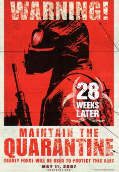 28 Weeks Later movie poster Entertainment Weekly has a first look at the movie poster for 28 Weeks Later, the sequel to the horror film 28 Days Later. Horror Movie Posters, Horror Films, Film Posters, Zombie Movies, Scary Movies, Good Movies, Awesome Movies, Alfred Hitchcock, Zombies