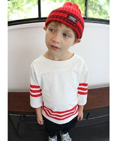 GROOVY COLORS (グルービーカラーズ)のラインTシャツ(Tシャツ/カットソー)|ホワイト