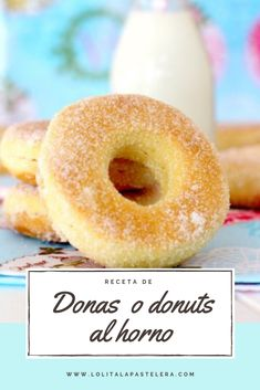 Donut Recipes, Mexican Food Recipes, Sweet Recipes, Dessert Recipes, Delicious Donuts, Delicious Desserts, Yummy Food, Beignets, Homemade Donuts