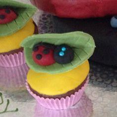 Mini ladybug cupcake