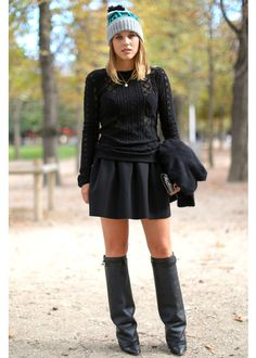 The Best Miniskirt + Sweater Outfits - Louloumagazine.com