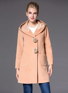Cotton & Cotton Blend As Picture Long Long Sleeve Hooded Coats & Jackets