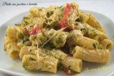 Pasta con zucchine e burrata
