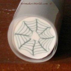 Spider web polymer clay cane