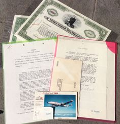 1951 AGREEMENT SIGNED BY HOWARD HUGHES & NOAH DIETRICH 11 M. FOR TWA  AIRCRAFT #HowardHughesAircraft