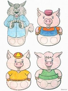 Three little pigs 3 Little Pigs Activities, Preschool Learning Activities, Toddler Activities, Scrapbook Letters, Finger Puppet Patterns, Insect Crafts, Puppets For Kids, Album Jeunesse, Special Kids