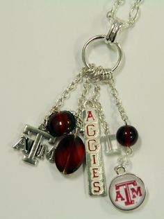 Texas A&M Cluster Necklace