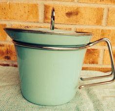 Stunning Turquoise MES Enamelware -Kettle Pot - Germany on Etsy, $56.95