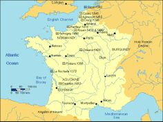 The Hundred Years War: overivew (map: France), to go with the reading of The Little Duke
