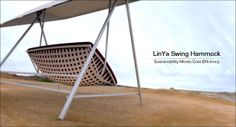 LinYa Swing Hammock – When Sustainability Meets Cost Efficiency - The simple tubular joints / connections of the carrying structure enable an easy assembly for the user. The mattress of the hammock rests on an extremely durable net made out of bamboo fibers. Designer : Jules Parmentier | via Tuvie