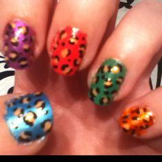 Leopard nail art!