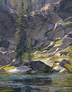 Quiet Morning; Skip Whitcomb, oil on linen