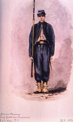 File:Goslin Zouave, Regiment, Private by Xanthus Smith. Civil War Art, Unknown Soldier, Union Army, French Army, Shiloh, American Civil War, Historical Sites, Hyde, National Parks