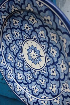 Moroccan Motif on a Plate
