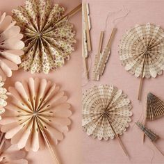 Blooming Ombre Fans from BHLDN perfect for that outdoor summer wedding!