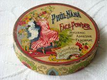 Rare Wartime Phul Nana Face Powder Box by J. Grossmith & Sons 1939-1945
