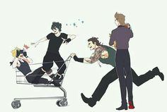The chocobros in a nutshell Final Fantasy Xv, Final Fantasy Funny, Final Fantasy Artwork, Final Fantasy Characters, Fantasy Series, Prompto Argentum, Noctis, Short Comics, Cute Anime Pics