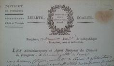 Liberté, égalité. Gouvernement révolutionnaire. #Revolution #FrenchRevolution #oldpapers #entete #archives