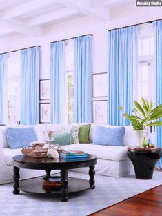 Wohnzimmer Ideen Vorhänge Blue Curtains Living Room, Light Blue Curtains,  Blue Rooms, Curtain