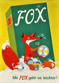 """C Epton saved to Vintage Ads """"It's easier with FOX dish washing liquid!"""" By H…"""