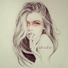 Hair Styles Drawings | Beautiful illustration by elle wills Amazing Art, Drawing Lessons ...