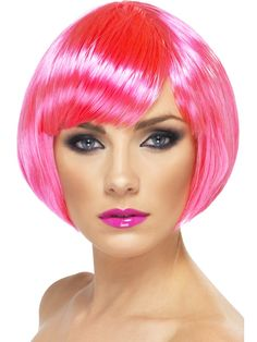 Women Pink Wigs Lace Front Hair Pink Short Hair Wig Mens Pink Hair Pink And Turquoise Hair – tomatoral Bob Fringe, Short Bob With Fringe, Fringe Bangs, Short Bob Wigs, Short Hair Wigs, Wig Styles, Short Hair Styles, Lace Front Wigs, Lace Wigs