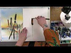 Watercolor tutorial lesson with Gayle Weisfield - Cattails