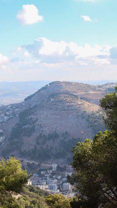 Mount Gerizim from Mount Ebal, Land of Israel.