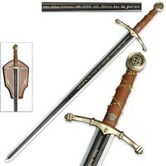 Tv, Film & Game Replica Blades New Stainless Steel King Arthur Long Sword Dirk With Board Able To Put On Wall