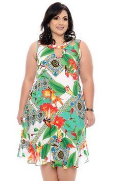 Vestido Plus Size Mycal Plus Size Summer Fashion, Plus Size Fashion For Women, Plus Size Womens Clothing, Clothes For Women, Vestidos Plus Size, Plus Size Gowns, Plus Size Outfits, Short African Dresses, Curvy Fashion