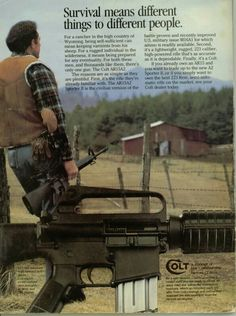 Also, see this ad from when it was competing with the Ruger Ranch Rifle Weapons Guns, Guns And Ammo, Vintage Advertisements, Vintage Ads, Fallout New Vegas, Old Magazines, Hunting Magazines, Shooting Guns, Fire Powers