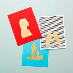 A New Take On Photos For Mom: Gold Leaf Silhouettes