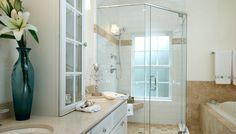 Bathroom design - feminine bathroom ideas ikea : bathroom ideas at Small Bathroom With Shower, Glass Bathroom, Glass Shower, Bathroom Showers, Shower Door, Beautiful Small Bathrooms, Amazing Bathrooms, Feminine Bathroom, Modern Bathroom