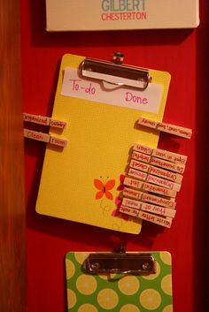 Chore charts! I like this idea for when my kids get older.