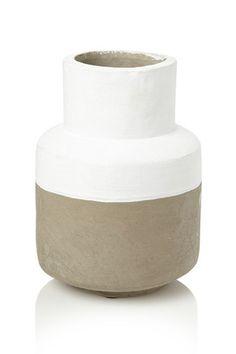 White And Grey Concrete Vase
