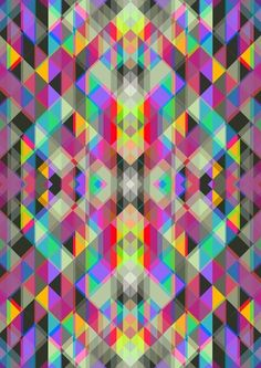 Winter geometrics Art Print