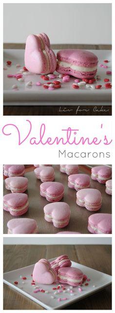 Valentine's Macarons | livforcake.com