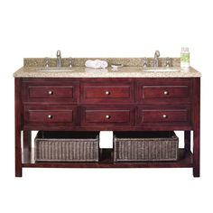 ove decors danny 60 inch double sink bathroom vanity granite top - Pinterest Bathroom Vanity