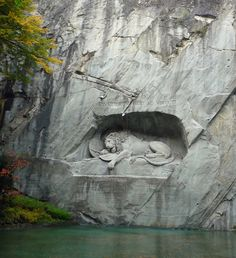 Lion Monument, Lacerne, Switzerland