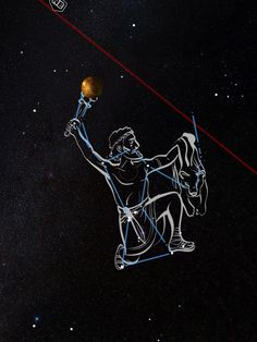 Orion is hunting with Venus