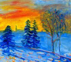 Kunst og handverk med TE: Frans Widerberg i pastellkritt Your Paintings, Art Blog, Abstract Art, Drawings, Pretty, Artist, Diy, Design, Bricolage