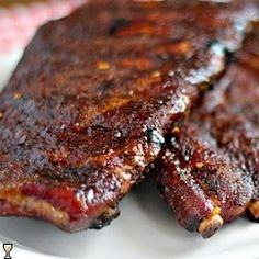 Mustard-Rubbed Ribs on the Grill