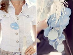 shell name tags for a beach wedding